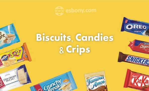 Biscuits, candies & crips