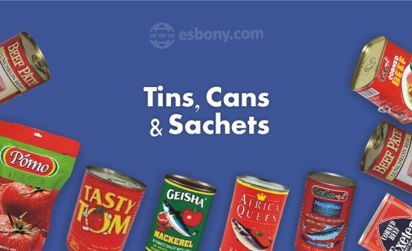 Tins, Cans and Sachets